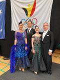 Ehepaare Rommel und Schürmann beim WDSF-Turnier in Seraing (Belgien)